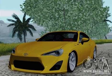 Toyota GT86 para vista inferior GTA San Andreas