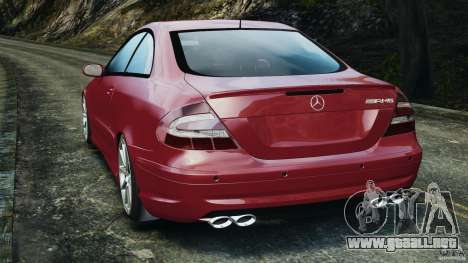 Mercedes-Benz CLK 63 AMG para GTA 4 Vista posterior izquierda