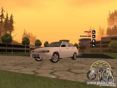 Velocímetro Lada Priora para GTA San Andreas sucesivamente de pantalla