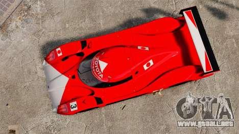 Toyota GT-One TS020 para GTA 4 visión correcta