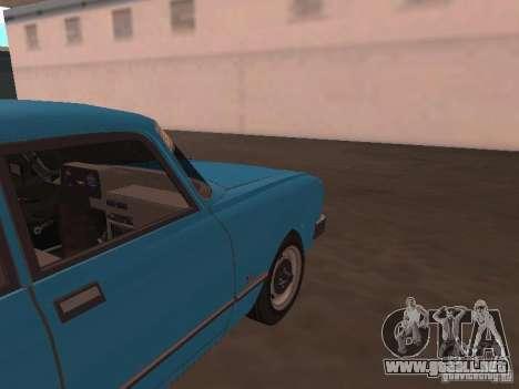 Moskvich 2140 SL para GTA San Andreas vista hacia atrás