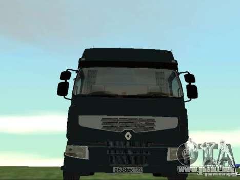 Renault Premium para vista lateral GTA San Andreas