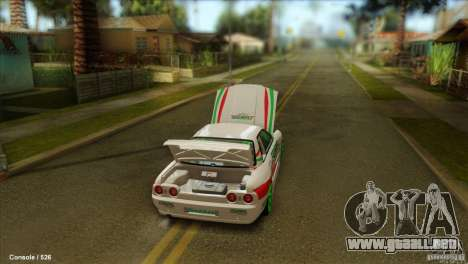 Nissan Skyline GT-R32 BadAss para GTA San Andreas left