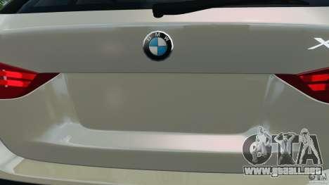 BMW X1 para GTA 4 vista desde abajo
