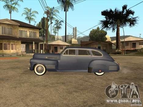 Cadillac 61 1941 para GTA San Andreas vista posterior izquierda