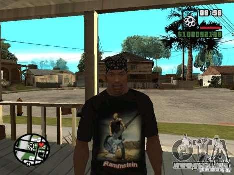 Rammstein camiseta v1 para GTA San Andreas