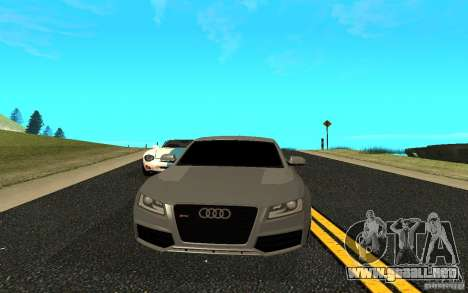 Audi RS5 para GTA San Andreas vista posterior izquierda