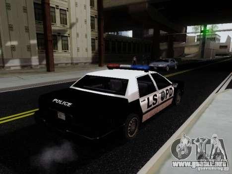 Elegant Police LS para GTA San Andreas vista posterior izquierda