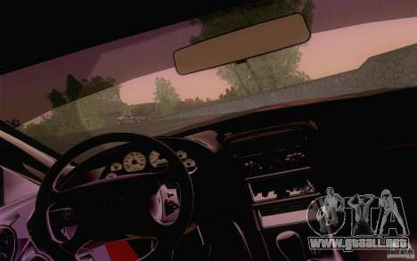 Ford Mustang SVT Cobra 2003 Black wheels para GTA San Andreas vista hacia atrás