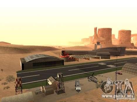 El nuevo aeropuerto para GTA San Andreas segunda pantalla