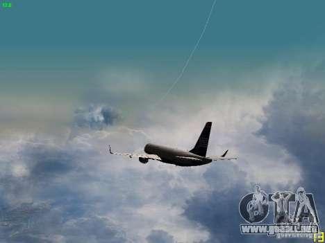 Embraer ERJ 190 USAirways para vista inferior GTA San Andreas