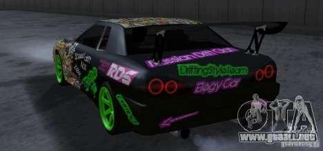 New Elegy DriftingStyleTeam para GTA San Andreas vista hacia atrás