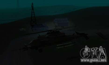 RQ-50 Hammerhead para GTA San Andreas vista hacia atrás