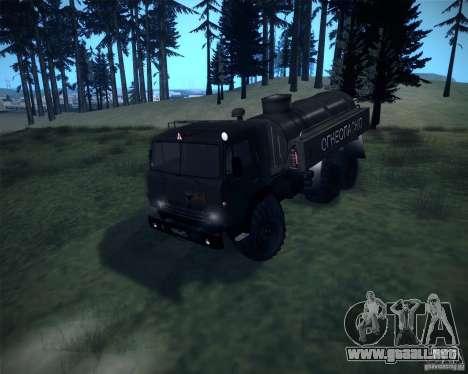 KAMAZ-4310 Bowser para GTA San Andreas