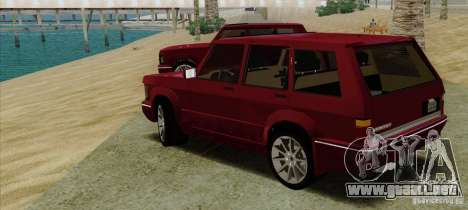 Huntley Freelander para GTA San Andreas left