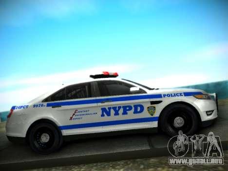 Ford Taurus NYPD 2011 para GTA San Andreas vista hacia atrás
