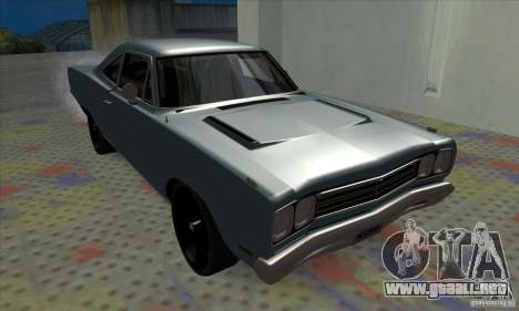 Plymouth Roadrunner para GTA San Andreas left