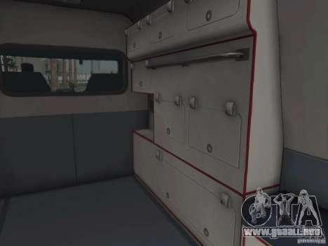 Ford Transit Ambulance para visión interna GTA San Andreas