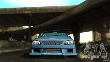 Lexus IS 300 Veilside para vista lateral GTA San Andreas