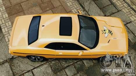 Dodge Challenger SRT8 392 2012 [EPM] para GTA 4 visión correcta