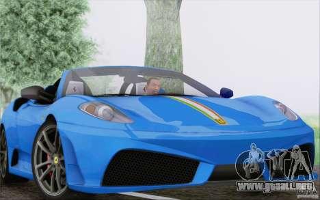 Ferrari F430 Scuderia Spider 16M para la vista superior GTA San Andreas