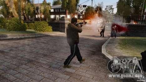 El daño real de armas para GTA 4 adelante de pantalla