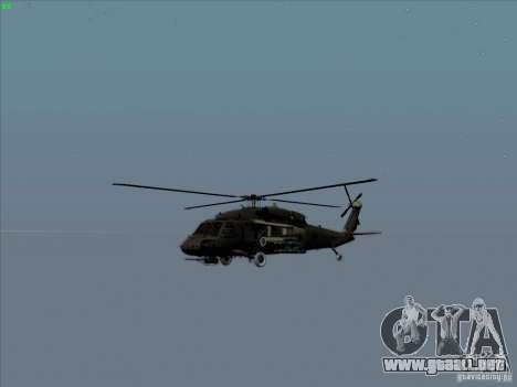 S-70 Battlehawk para vista lateral GTA San Andreas