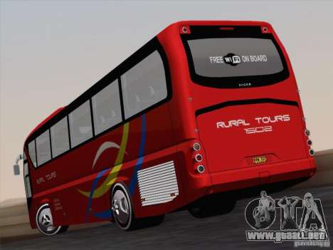 Neoplan Tourliner. Rural Tours 1502 para visión interna GTA San Andreas