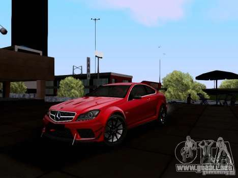 Mercedes-Benz C63 AMG 2012 Black Series para GTA San Andreas left