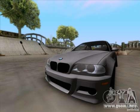 BMW 3-er E46 Dope para GTA San Andreas vista posterior izquierda