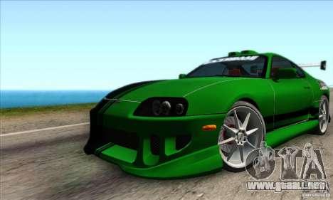 Toyota Supra Tunable para vista lateral GTA San Andreas
