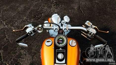 Harley Davidson Fat Boy Lo Vintage para GTA 4 vista hacia atrás