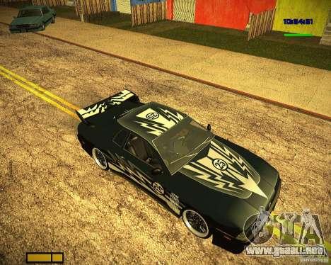 Pak vinilos para Elegy para GTA San Andreas vista posterior izquierda