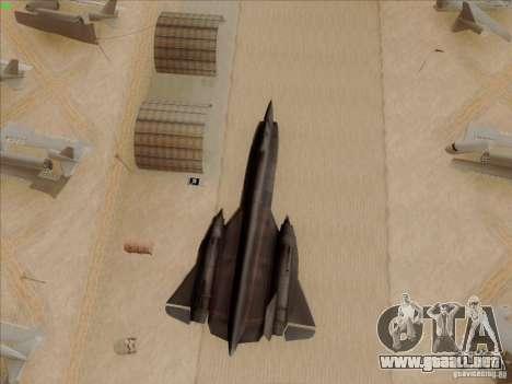 YF-12A para la vista superior GTA San Andreas