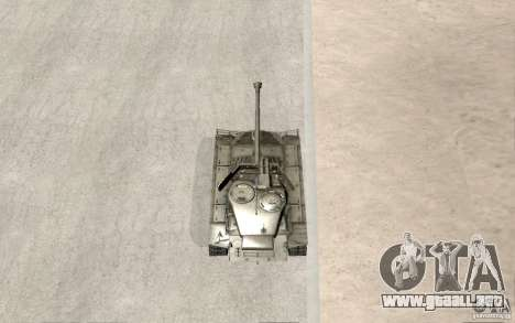 T26 E4 Super Pershing v1.1 para vista lateral GTA San Andreas