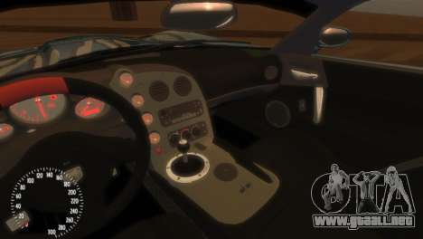 Dodge Viper SRT-10 Mopar Drift para GTA 4 vista interior