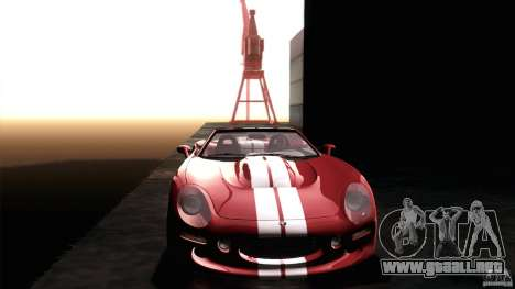 Shelby Series 1 1999 para vista lateral GTA San Andreas
