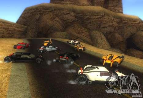 Guardia para GTA San Andreas vista posterior izquierda