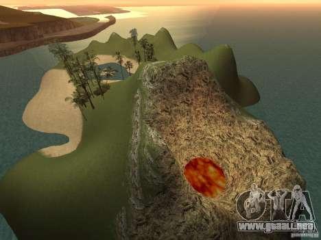 Volcano para GTA San Andreas tercera pantalla