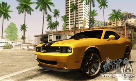 Dodge Challenger SRT-8 para visión interna GTA San Andreas