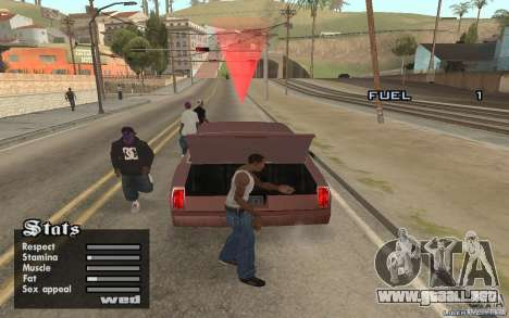 Trunk Hide para GTA San Andreas