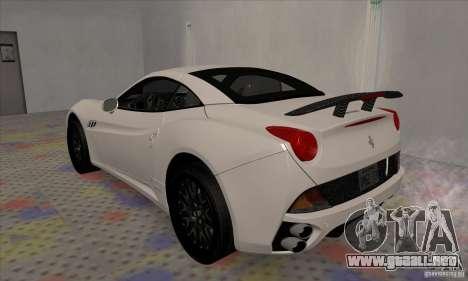 Ferrari California Hamann para la visión correcta GTA San Andreas