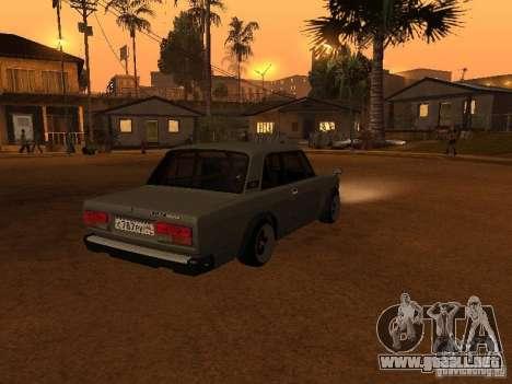 VAZ 2107 Coupe para GTA San Andreas vista posterior izquierda