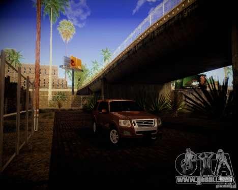 Ford Explorer para GTA San Andreas vista posterior izquierda