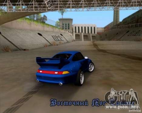 Porsche 911 GT2 RWB Dubai SIG EDTN 1995 para vista inferior GTA San Andreas