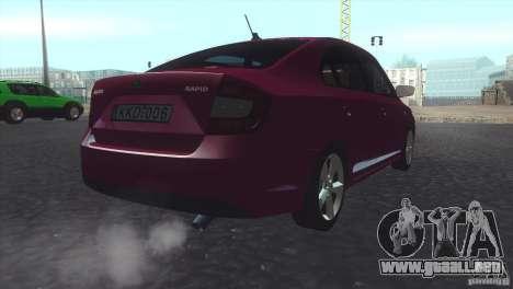 Skoda Rapid 1.6 C.R TDi 2013 V1 para GTA San Andreas