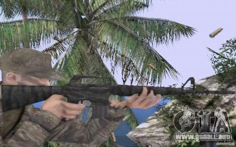 M16A1 Vietnam war para GTA San Andreas tercera pantalla