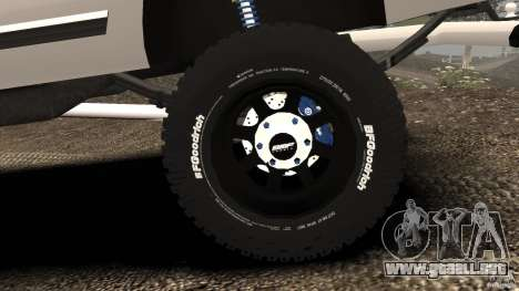 Chevrolet Silverado 2500 Lifted Edition 2000 para GTA 4 interior