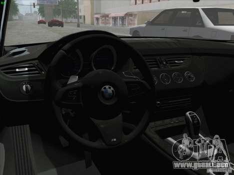 BMW Z4 2011 para la visión correcta GTA San Andreas