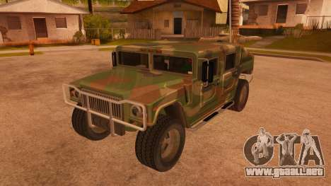HD Patriot para vista lateral GTA San Andreas